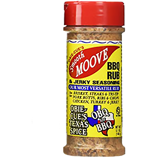 Obie-Cue's Smooth Moove BBQ Rub & Jerky Seasoning 5.1 oz.