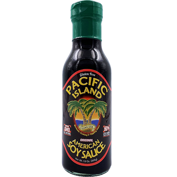 Pacific Island American Soy Sauce 13 oz. - The Kansas City BBQ Store