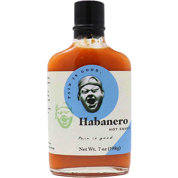 Pain is Good Habanero Hot Sauce  7 oz. - The Kansas City BBQ Store