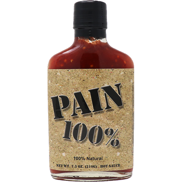 Pain 100% Hot Sauce 7.5 oz. - The Kansas City BBQ Store