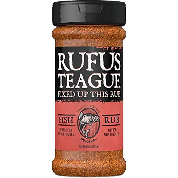 Rufus Teague Fish Rub 6.5 oz. - The Kansas City BBQ Store