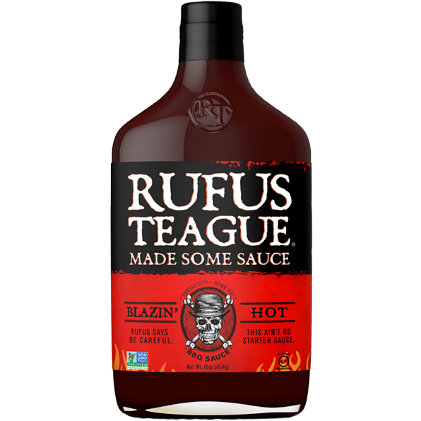 Rufus Teague Blazin' Hot Barbecue Sauce 16 oz. - The Kansas City BBQ Store