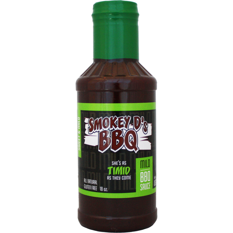 Smokey D's BBQ Timid BBQ Sauce 18 oz.
