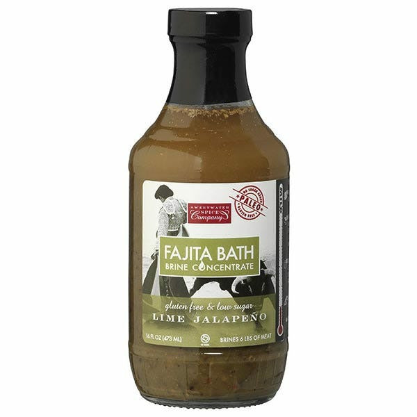 Sweetwater Spice Company Lime Jalapeno Fajita Bath Brine Concentrate 16oz - The Kansas City BBQ Store