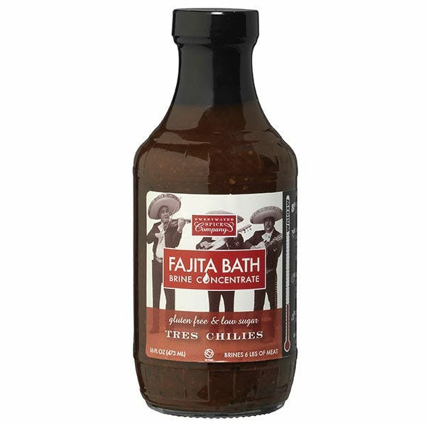 Sweetwater Spice Company Tres Chilies Fajita Bath Brine Concentrate 16oz - The Kansas City BBQ Store