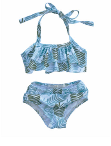 2 Piece Halter Swim Set - Palm Leaf