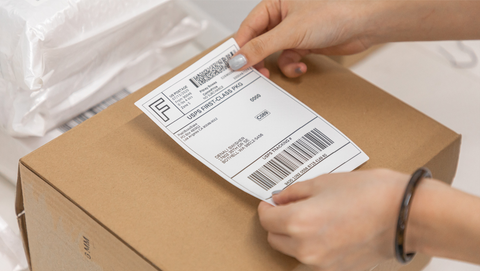 How quickly can a 4x6 shipping label printer get package labels?