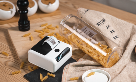 How can physical supermarkets use thermal label printers to reduce labor costs for PUBG?