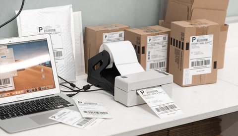 Which 4x6 label printer is more time-saving and labor-saving for parcel printing?