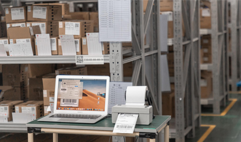 How fast can a 4x6 shipping label printer get package labels?