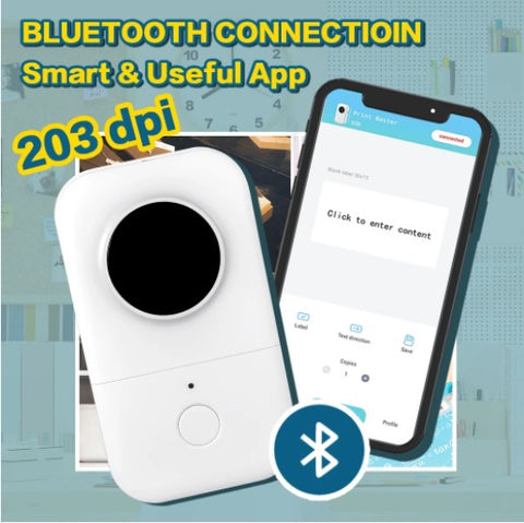 Blutooth connection - D30 portable thermal label printer