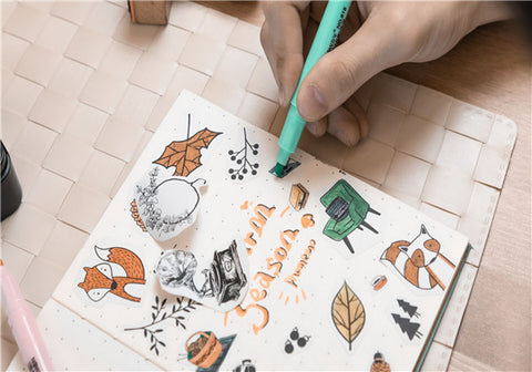 coloring with T02 thermal pocket printer