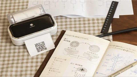 print learning notes with M03 bluetooth portable thermal printer