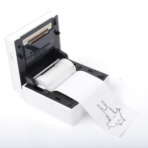 Phomemo M02 Portable Thermal Printer Sticker Thermal Paper with Paper Holder Set