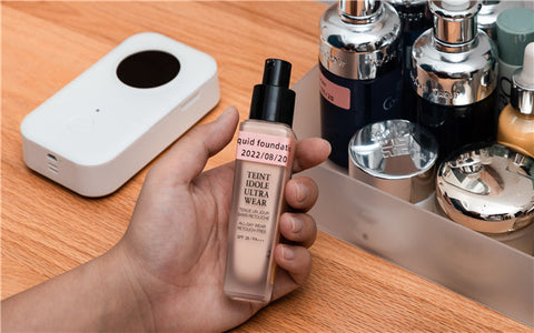 Skincare Label with D30 thermal label maker