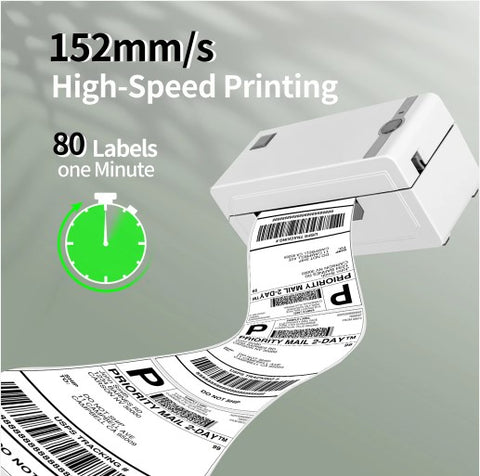 High Speed Thermal 4×6 Shipping Label Printer