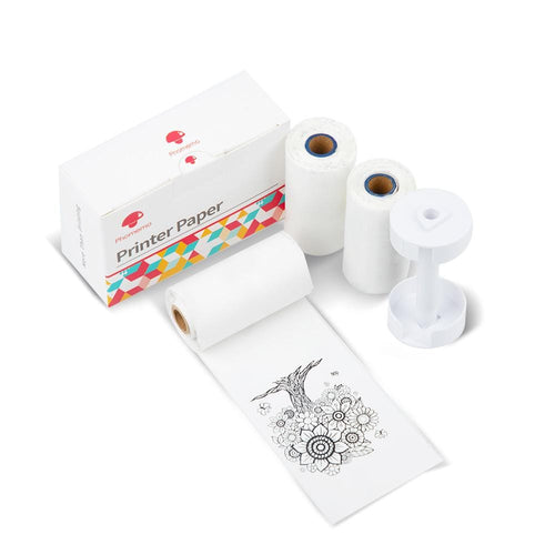 Phomemo Sticker Thermal Paper with Paper Holder Set, Compatible with M02