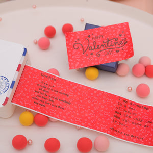 Phomemo Red Heart Pattern Stickers Thermal Paper 3 Rolls for 20 yrs (Compatible with M02 & M02s)