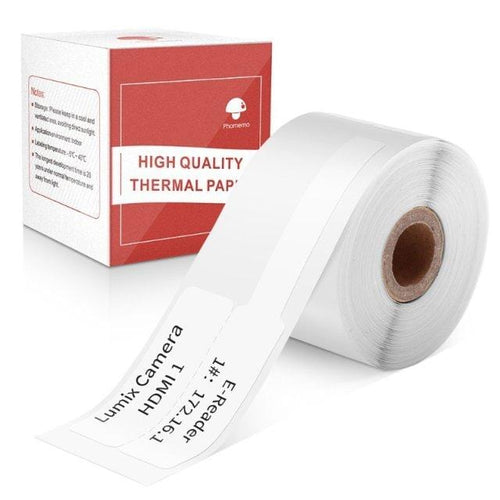 Cable Label Self-Adhesive- Compatible for Phomemo M110 Label Printer-1 Roll of 100 Labels 25x38mm