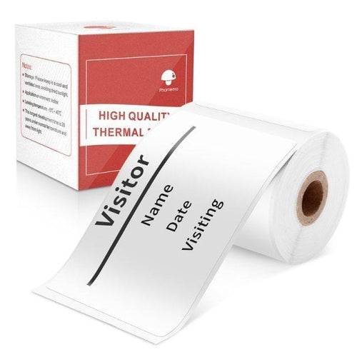 Multi-Purpose Square Self-Adhesive Label- Compatible for Phomemo M110 Label Printer-1 Roll of 100 Labels 50x80mm