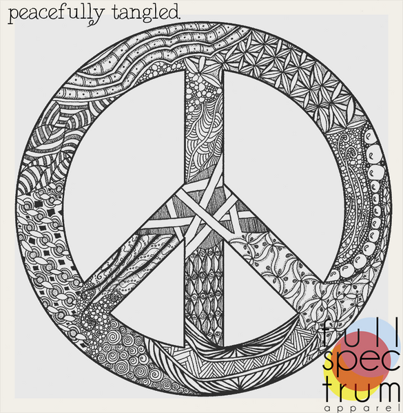Peace Sign, Symbol T Shirt hand screened on American Apparel Vintage Fit clothing
