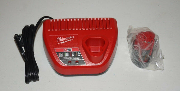 Genuine Milwaukee 48-11-2420 M12 Red Lithium-Ion 2.0 with charger 48-59-2401 NO7 - [home-and-tool].