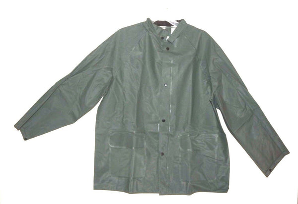 New Diamond 1766 Reinforced PVC Rain Jacket Green sz S Men's 34-36 - [home-and-tool].