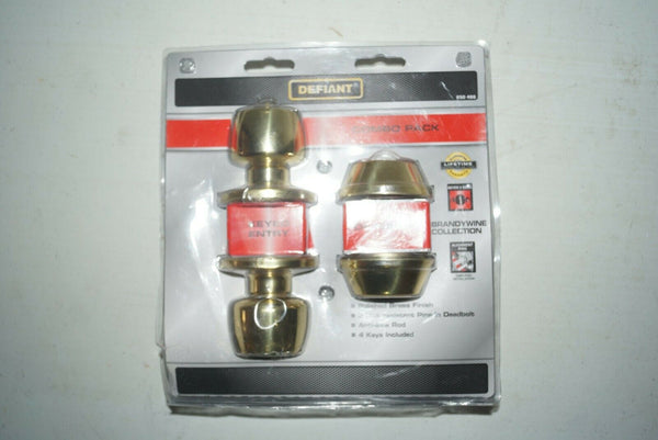 Gold finish Defiant Key Entry Combo Pack (new in box)