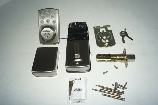 Kwikset Powerbolt 2 Touchpad Keyless Entry 99070-101 Satin NIckel NO KEYS FP81
