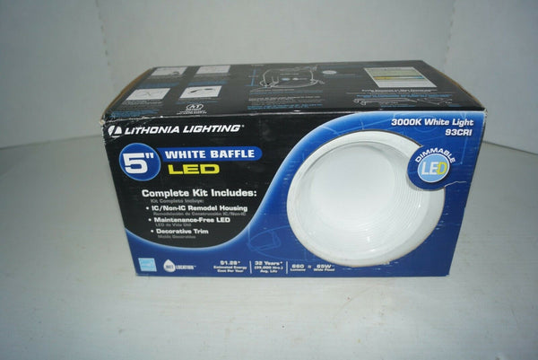 "NEW Lithonia Lighting LK5BMW LED M4 5"" LED recessed white Baffle Kit 572-125 NIB"