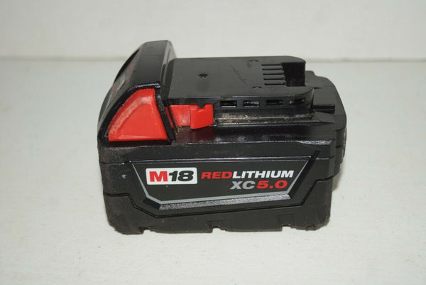 Milwaukee M18 RedLithium XC 18V 5.0 Ah Li-Ion Battery Pack 48-11-1850 USED U413 - [home-and-tool].
