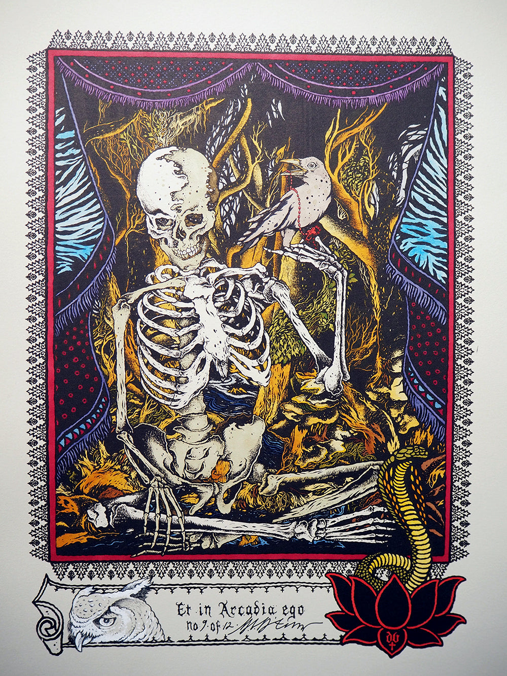 Et in Arcadia Ego : Hand painted screen print