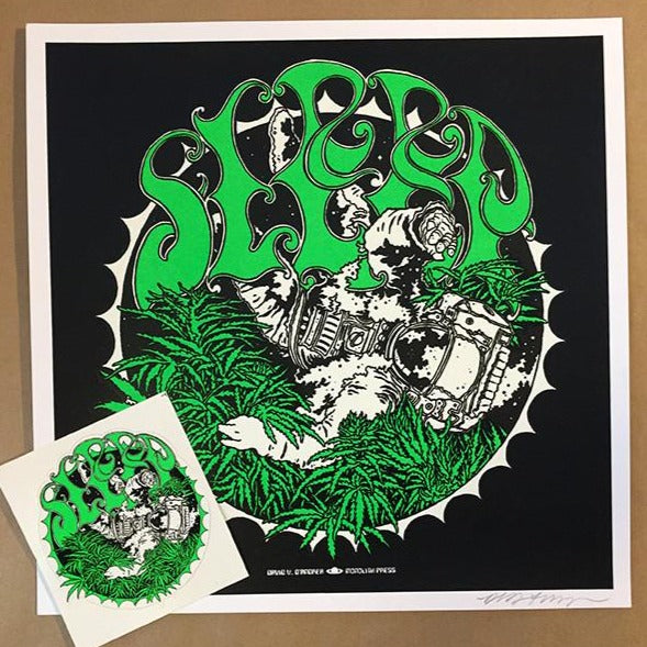 Sleep Marijuanaut : mini print & sticker