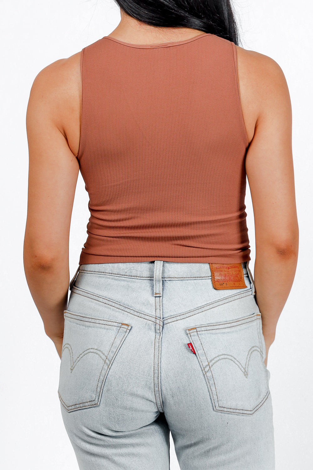 Say So High Neck Tank (Cognac)