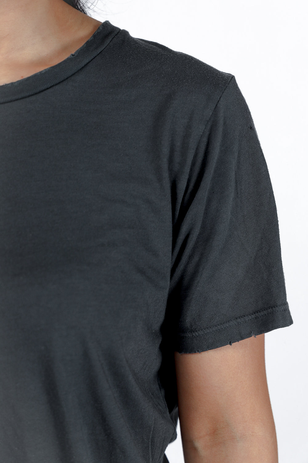 Distressed Classic Tee in Faded Black PREORDER