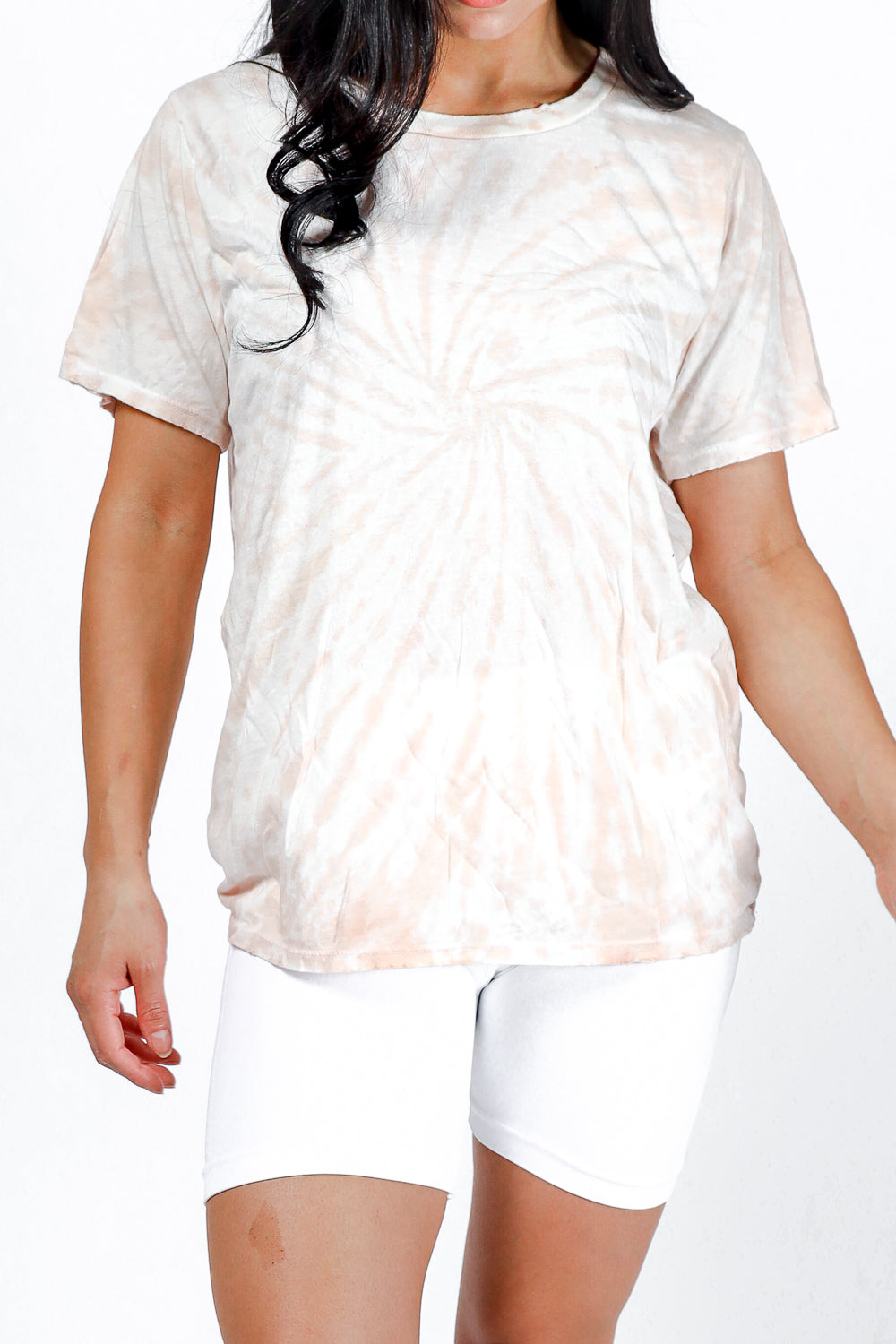 Blush Tie-Dye Distressed Tee PREORDER