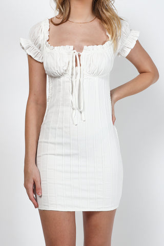 Summer Icon Mini Dress (White)