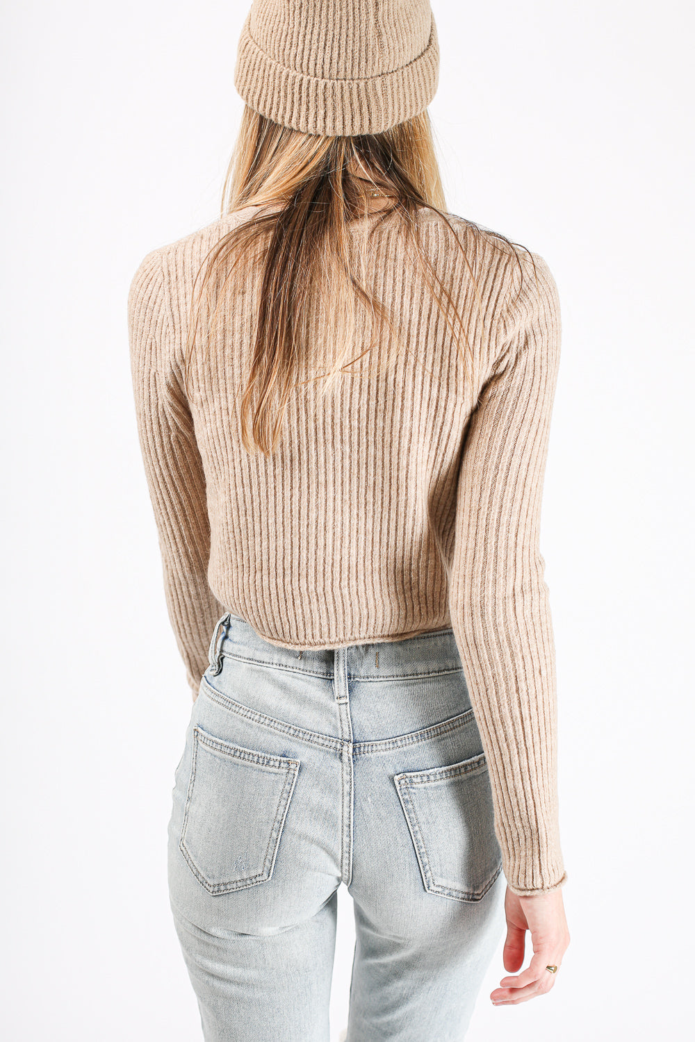 Casey Crop Sweater (Taupe)