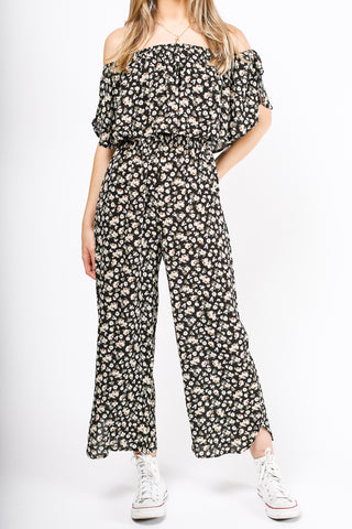 Having Fun Floral Jumpsuit