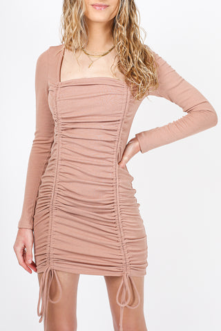 Niki Knit Midi Dress (Chocolate)