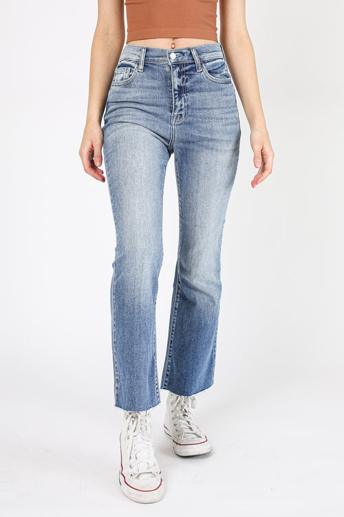 Call You Back Crop Flare Denim