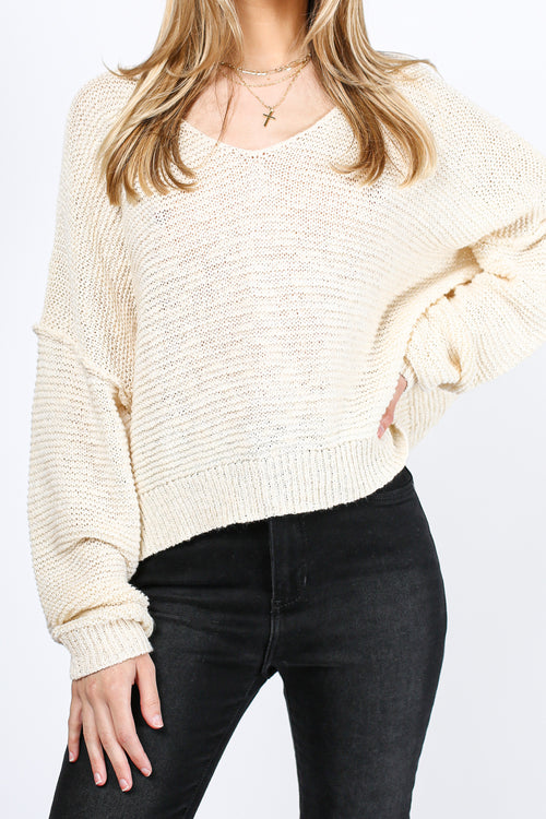 Back in Town Knit Sweater (Ivory)