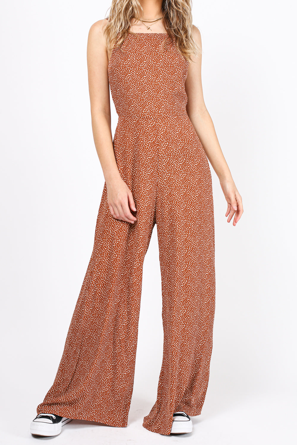 Falling for You Jumpsuit (Rust)