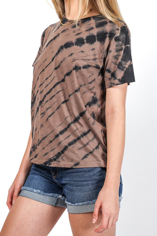 Distressed Classic Tee in Faded Black