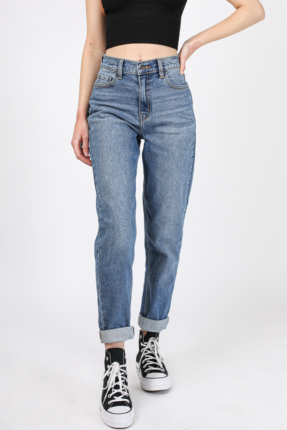 Got Your Back Slit Denim