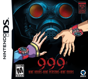 Zero Escape: 999 (Nine Hours, Nine Persons, Nine Doors) - Nintendo DS