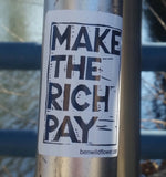 Make The Rich Pay Sticker