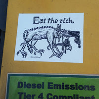 Eat The Rich bumper sticker