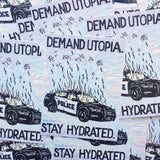 Demand Utopia sticker