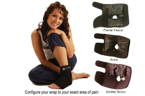 Foot ice wrap, ankle ice wrap,